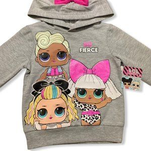 LOL Surprise Character Hoodie Gray Size 4T